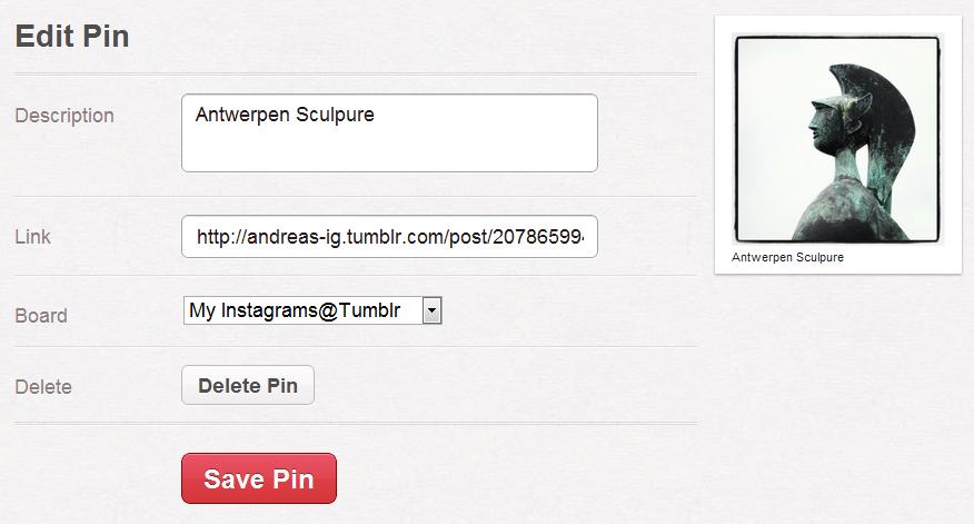 Editieren der Pinterest Tracking-URL
