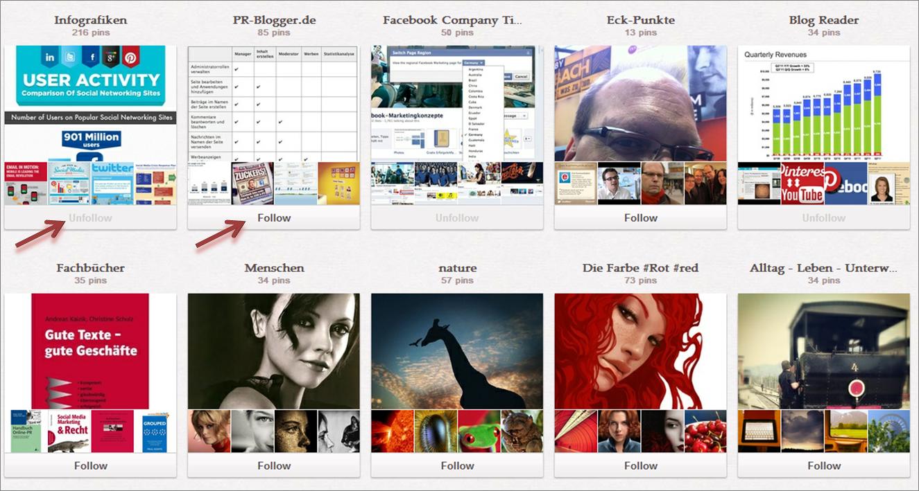 Follow Unfollow Pinterest-Boards