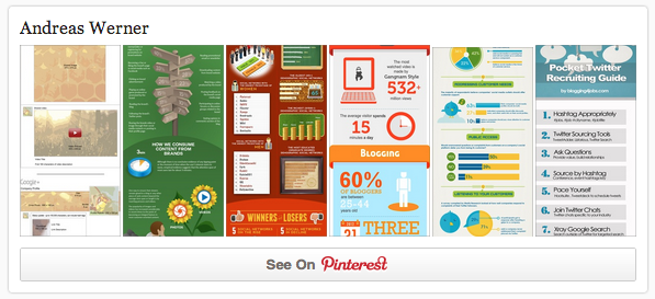 Pinterest Account Widget