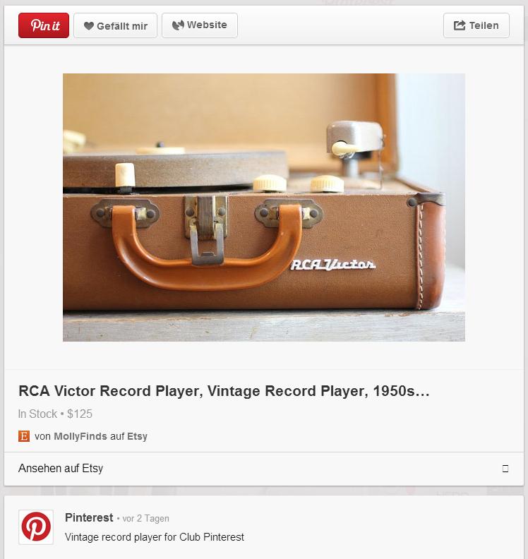 Rich Pin etsy mit Beschreibung, Preis und Verfügbarkeit