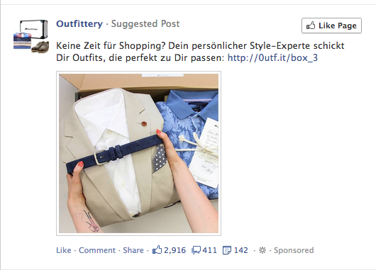 Facebook In Feed-Werbung