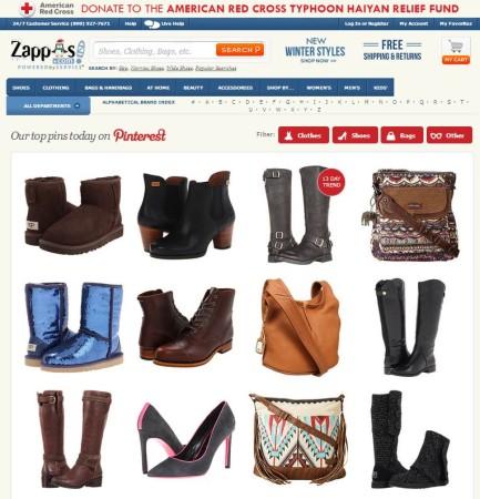 Pinterest-API: Zappos Pinterest Tending