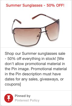 Verbotene Pinterest Werbung