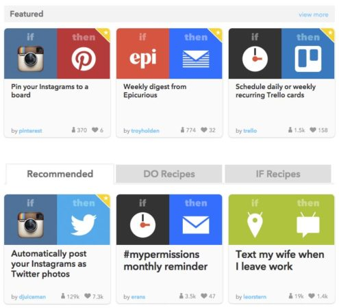 Pinterest & IFTTT: Featured Recipes
